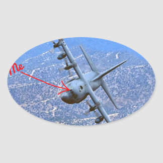 C-130 LOW LEVEL OVAL STICKER