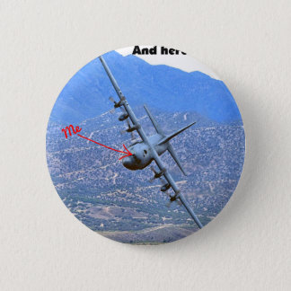 C-130 LOW LEVEL PINBACK BUTTON
