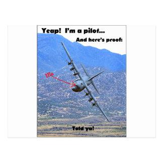 C-130 LOW LEVEL POSTCARD