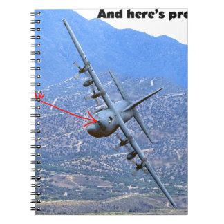 C-130 LOW LEVEL SPIRAL NOTEBOOK