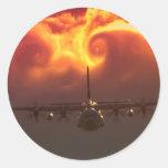 C-130 vortex classic round sticker