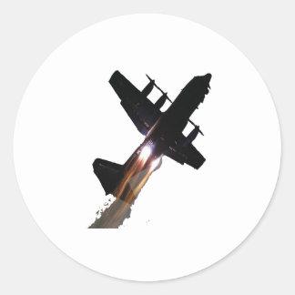 C-130 WITH JATOS ON CLASSIC ROUND STICKER