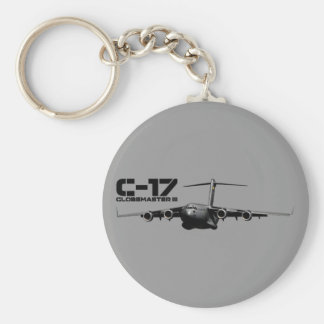 C-17 Globemaster III Basic Round Button Keychain