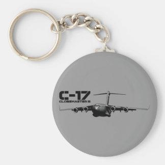 C-17 Globemaster III Llavero Redondo Tipo Pin