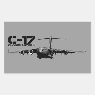C-17 Globemaster III Pegatina Rectangular