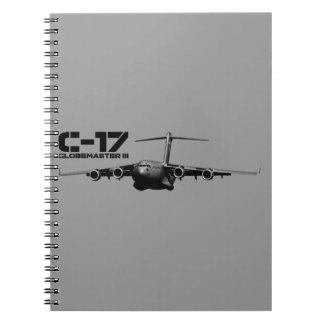 C-17 Globemaster III Spiral Notebook