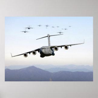 C-17 Globemaster III's Poster