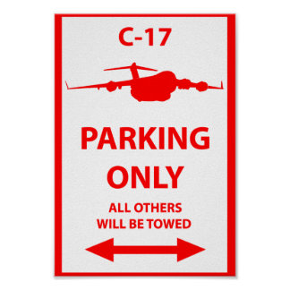 C-17 que parquea solamente la muestra póster