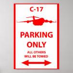 C-17 que parquea solamente la muestra posters