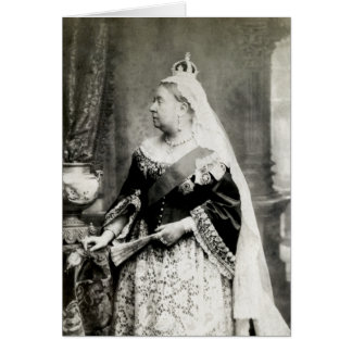 C 1880 Queen Victoria of England Greeting Card