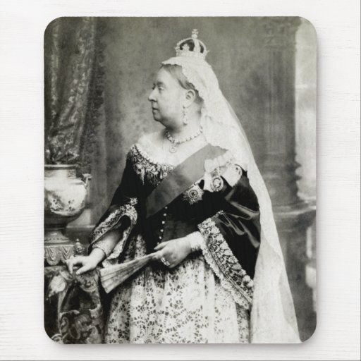 1880 Queen Victoria of England Mouse Pad   Zazzle