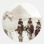 C. 1885 Americans in Egypt Classic Round Sticker