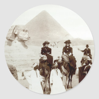 C. 1885 Americans in Egypt Classic Round Sticker