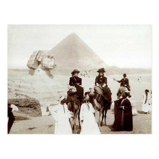 C. 1885 Americans in Egypt Postcard