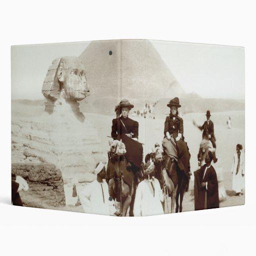 C. 1885 Americans in Egypt Vinyl Binder