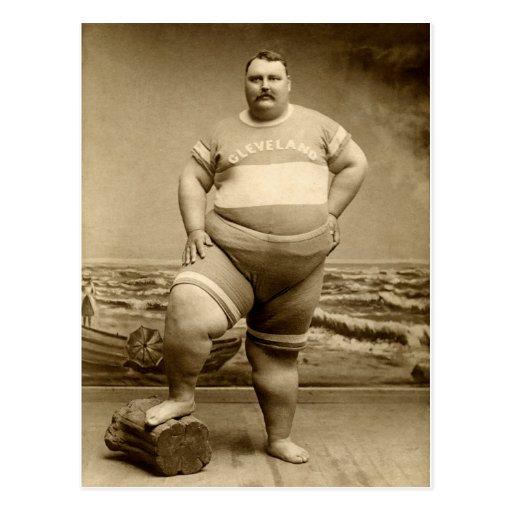 C. 1890 The Big Guy Postcard