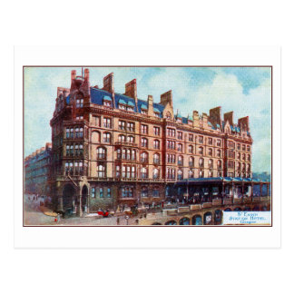 c 1900 Watercolour St Enoch Hotel Glasgow Post Card