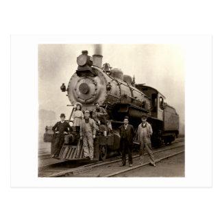 C. 1905 tren de ferrocarril postales