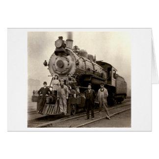 C. 1905 tren de ferrocarril tarjeta de felicitación