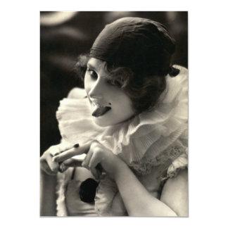 C. 1910 la pulla de la mujer del bonito invitación 11,4 x 15,8 cm