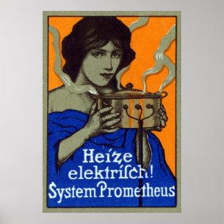 C. 1910 poster de cocinar alemán póster