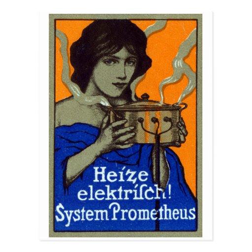 C. 1910 poster de cocinar alemán tarjetas postales