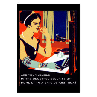C. 1915 Are Your Jewels Safe Large Business Cards (Pack Of 100)