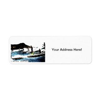 C. 1925 Vintage Hawaii Custom Return Address Labels