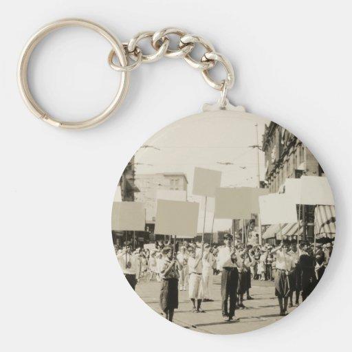 C. 1930 Rally Basic Round Button Keychain