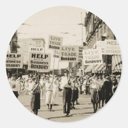 C. 1930 reunión en Boston Pegatina Redonda