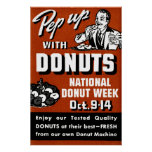 C. 1935 Pep Up with Donuts Poster