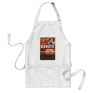 C. 1935 Pep Up with Donuts Poster Adult Apron