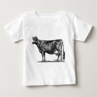 C-1 Cow, Jersey breed. Your farm name. Baby T-Shirt