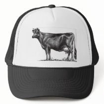 C-1 Cow, Jersey breed. Your farm name. Trucker Hat