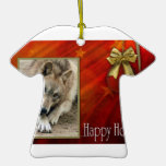 c-2011-grey-wolf-003 christmas tree ornament