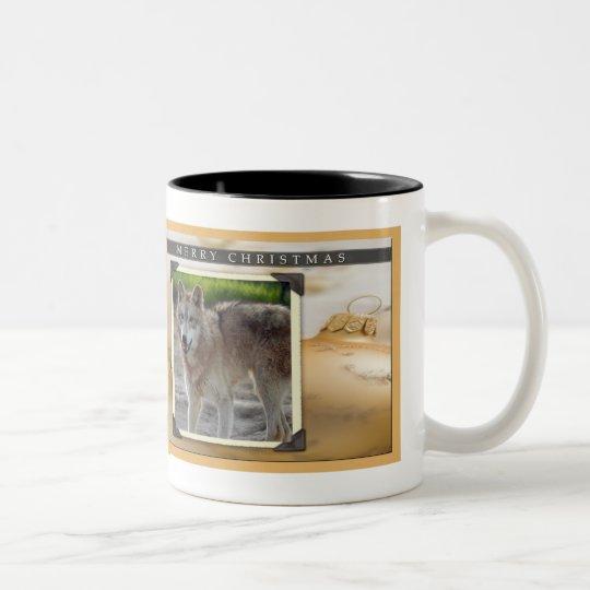 c-2011-grey-wolf-023 Two-Tone coffee mug