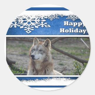 c-2011-grey-wolf-037 classic round sticker