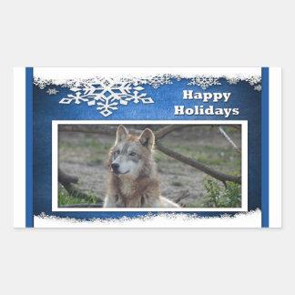 c-2011-grey-wolf-037 rectangular sticker