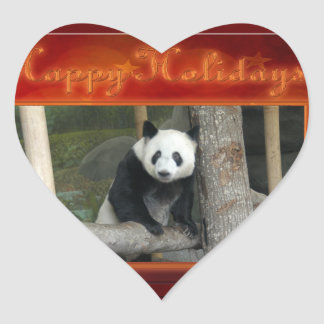c-2011-panda-0024 heart sticker