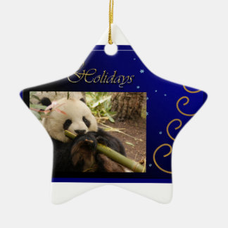 c-2011-panda-0052 adorno navideño de cerámica en forma de estrella
