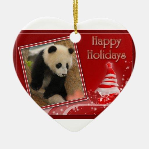 c-2011-panda-0072 ceramic ornament