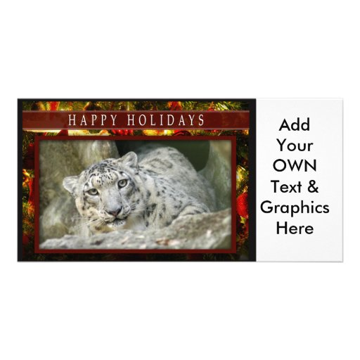 c-2011-snow-leopard-039 personalized photo card