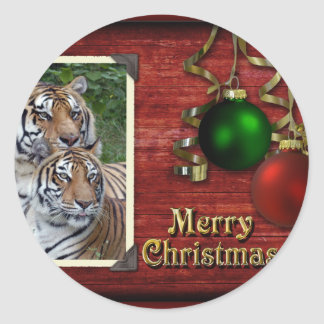 c-2011-tiger-037 classic round sticker