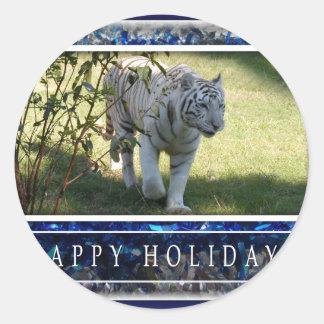 c-2011-white-tiger-037 classic round sticker