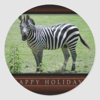 c-2011-zebra-037 classic round sticker