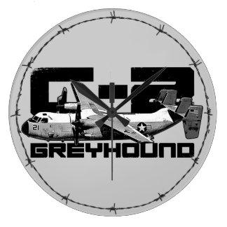 C-2 Greyhound Round (Large) Wall Clock