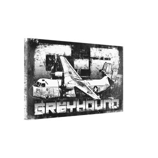 C-2 Greyhound Wrapped Canvas