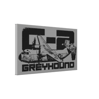 C-2 Greyhound Wrapped Canvas Canvas Print