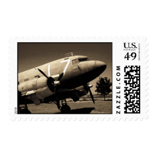 C-47 Sepia Postage Stamps