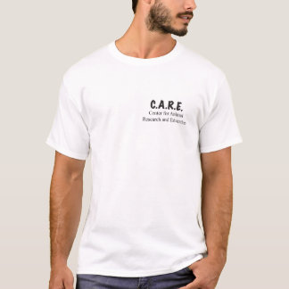 C.A.R.E. Camiseta de la impresión de la pata